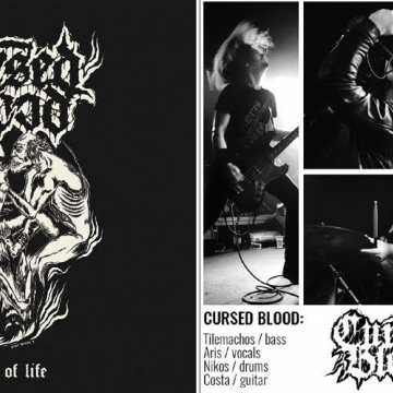 THE GREEK CURSED BLOOD ON  War Anthem Records - Debut MCD/MLP in October