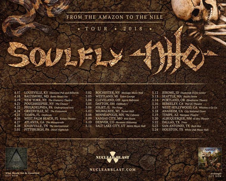 Soulfly: Περιοδεια με Nile